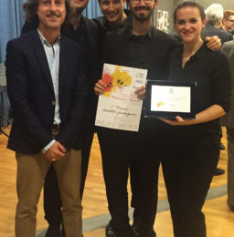 Alfredo Romano, Presidente Ass. Culturale Eleomai, con i vincitori del Premio Antonelli