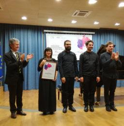 Il M° Claudio Paradiso premia il Quartetto Felix